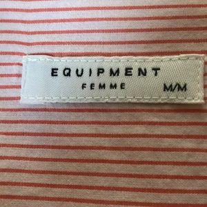 Equipment Tops - Equipment femme pinstripe button down shirt